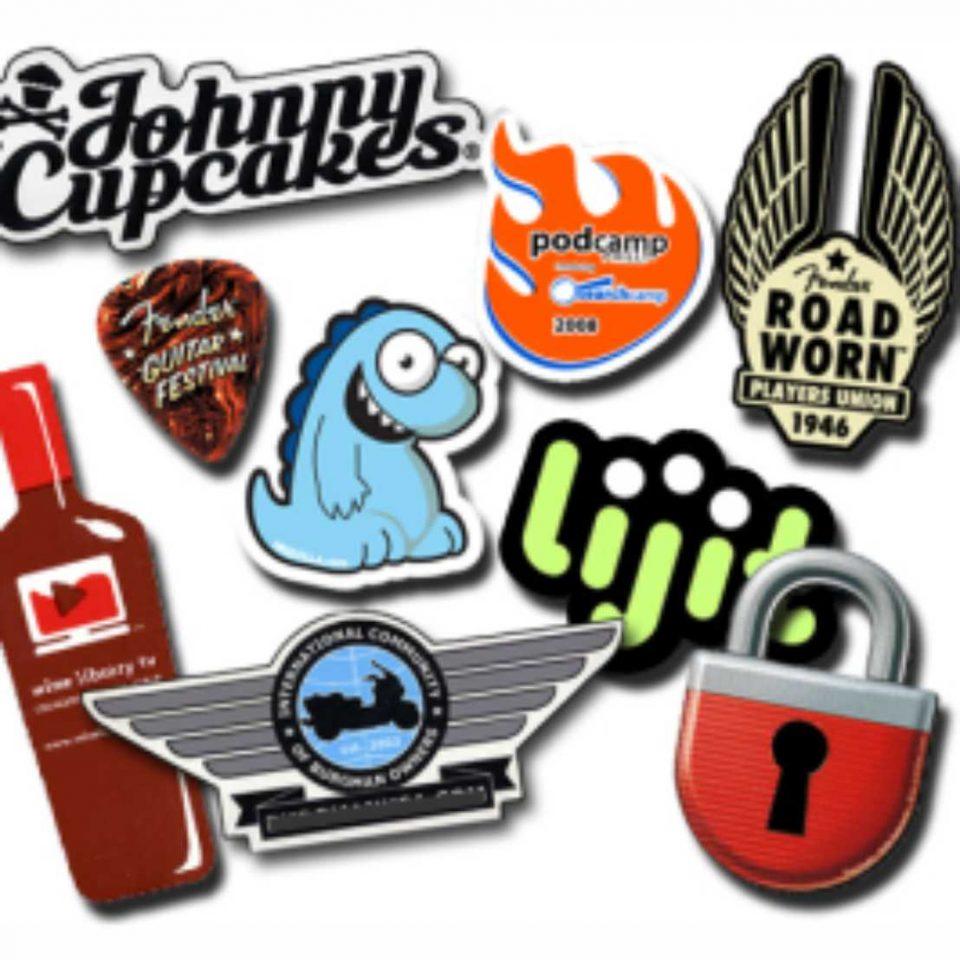 custom cut die cut stickers