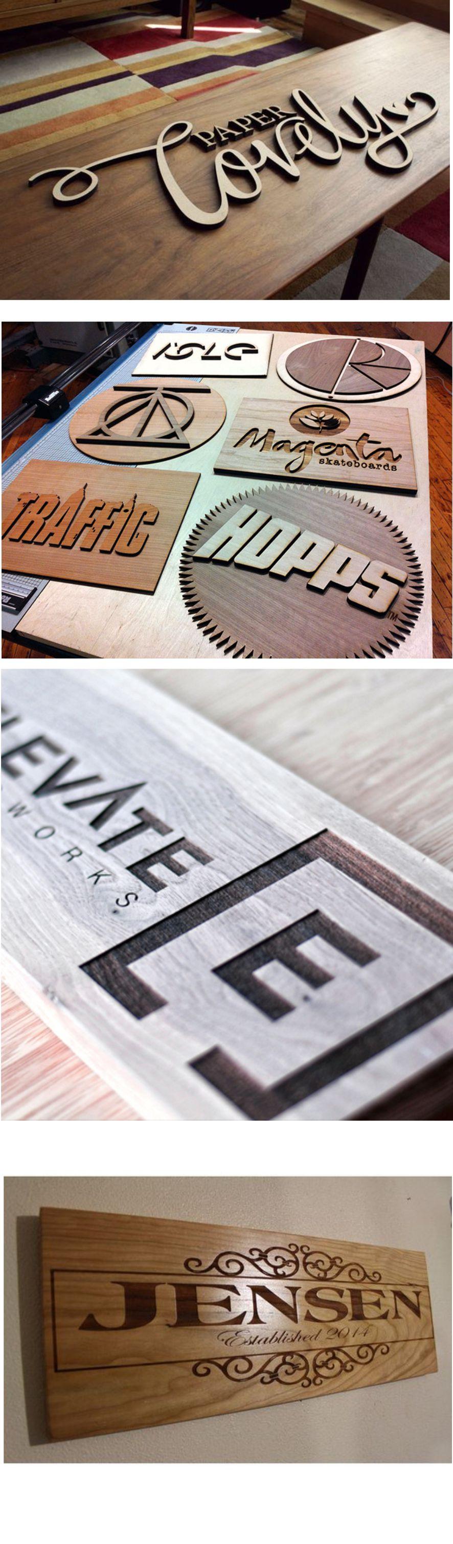 Laser Engraved Wood Samples