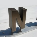 Dimensional Metal Letters