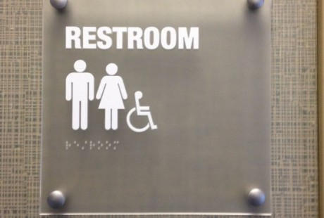 Frosted Acrylic Restroom Sign