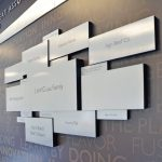 Brushed metal recognition wall NJ
