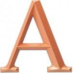 Cast acrylic Metalic Copper Finish