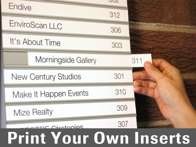 Print Your Own Inserts