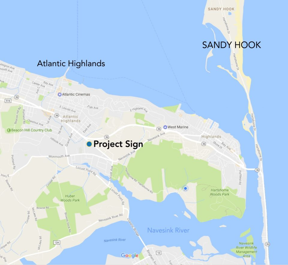 Project sign Map