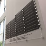 Recognition wall of presidents square standoffs & frosted acrylic NJ