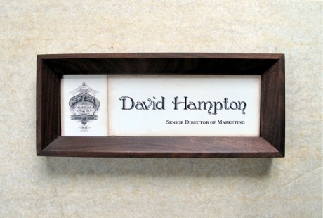 Walnut Wood Framed Name plate