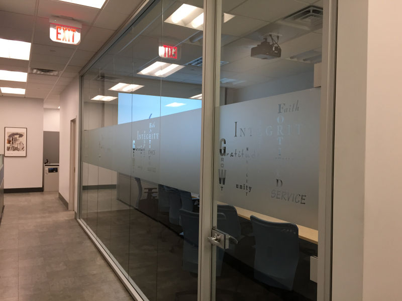 Frosted Glass Lettering - Project Sign Architectural ...