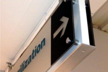 Custom Wayfinding with frosted acrylic
