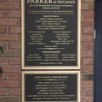 Bronze Dedication Plaque for parker rehabilitation and nursing center