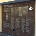 Donor Wall for Bnai Shalom, West Orange NJ