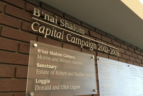 Modern Donor Wall