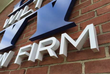Wilton Dimensional metal letters wall logo Middletown NJ