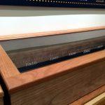 Cherry wood display cabinets