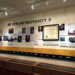 Fraternity Display reverse mounted photos