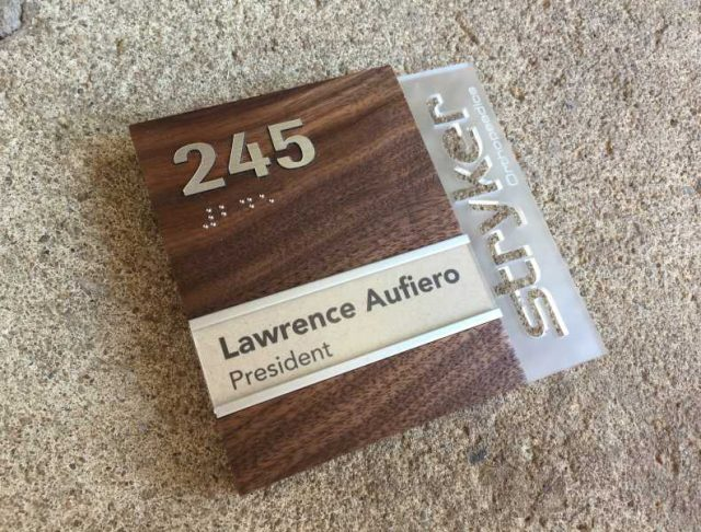 Office Name Plates Project Sign