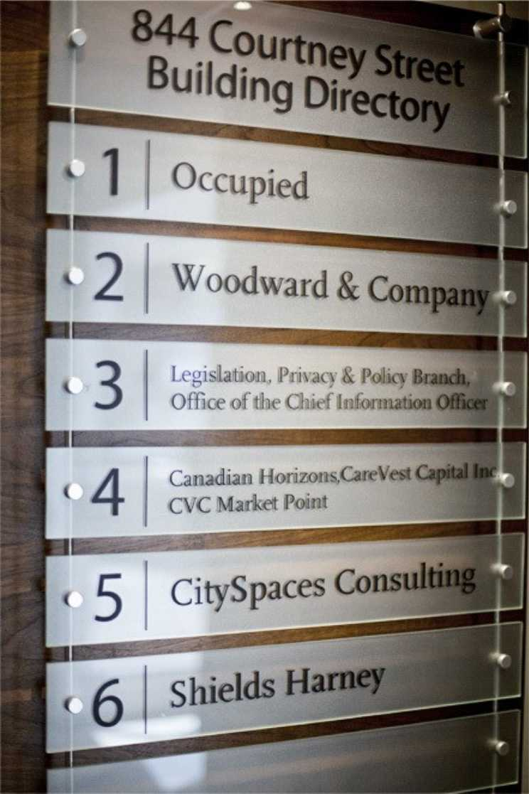 Building Directories And Wayfinding Project Sign